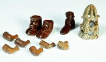 GROUP OF AMERICAN SEWERTILE INCLUDING SHOES.