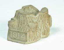 AMERICAN SANDSTONE TOOTHPICK HOLDER.