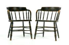 PAIR OF ODD FELLOWS CAPTAIN'S CHAIRS.