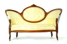 VICTORIAN MEDALLION BACK SOFA.
