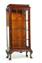 CHIPPENDALE-STYLE CURIO CABINET.