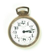 WALTHAM RAILROAD POCKET WATCH.