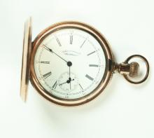 WALTHAM HUNTER CASE POCKET WATCH.