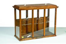 OAK DISPLAY CASE FOR ROASTED NUTS.