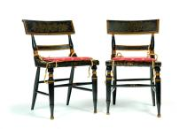 PAIR OF BALTIMORE FANCY CHAIRS.