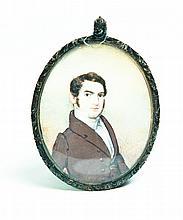 MINIATURE PORTRAIT BY EDWIN WEYBURN GOODWIN (NEW YORK, 1800-1845).