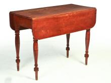 AMERICAN COUNTRY SHERATON DROP LEAF TABLE.