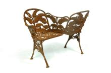 VIRGINIA CAST IRON TETE-A-TETE GARDEN SEAT.