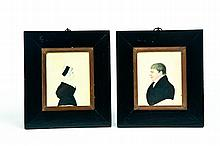 PAIR OF PORTRAITS IN THE MANNER OF JUSTUS DALEE (AMERICAN, 1793-1878).