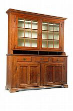 CHIPPENDALE STEP-BACK CUPBOARD.