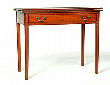 CHIPPENDALE CARD TABLE.
