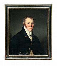 PORTRAIT OF A MAN (AMERICAN SCHOOL, 2ND QUARTER-19TH CENTURY).