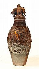 SEWERTILE COVERED URN.