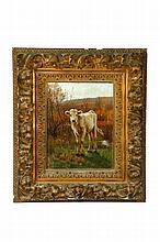 CALF BY GUY CARLETON WIGGINS (NEW YORK/CONNECTICUT, 1848-1932).