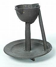 CAST IRON GREASE LAMP.