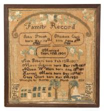 CONNECTICUT FAMILY RECORD SAMPLER.