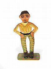 STANDING FIGURE BY ELIJAH PIERCE (COLUMBUS, OHIO, 1892-1984).