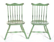 AMERICAN STAND AND PAIR OF WINDSOR-STYLE SIDE CHAIRS.