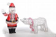 TWO CHRISTMAS DECORATIVE ITEMS.