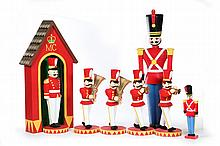 EIGHT DEPARTMENT 56 CHRISTMAS DECORATIONS.