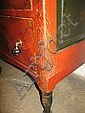 DECORATED CHEST OF DRAWERS.