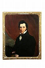 PORTRAIT OF A DASHING GENTLEMAN (AMERICAN, 2ND QUARTER-19TH CENTURY).