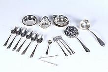 GROUP OF STERLING FLATWARE.