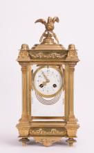 TIFFANY GILT BRONZE CLOCK