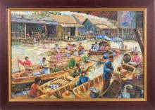 SOUTHEAST ASIA OIL PAINTING BY PRAYONG