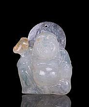 CHINESE JADEITE BUDDHA PENDANT