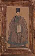 CHINESE KOREAN DAOIST PORTRAIT IN SEATED POSITION