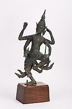 ANTIQUE SOUTHEAST ASIAN BRONZE DANCING DEITY