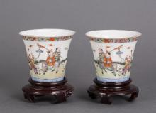 PAIR CHINESE REPUBLIC PORCELAIN CUP