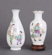 TWO CHINESE CULTURE REVOLUTION SCENE VASES