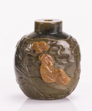 CHINESE GREEN AGATE SNUFF BOTTLE