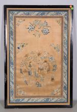 CHINESE EMBROIDERY PANEL WITH FIGURAL SCENE