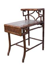 CHINESE ROSEWOOD END TABLE WITH DREAM STONE