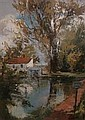 VICTOR ASKEW 1909 - 1974: Country cottage with, Victor Askew, Click for value