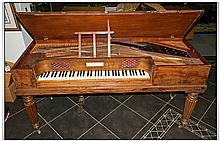 A John Broadwood & Sons Mahogany Cased Harpsichord with a wood sounding boa