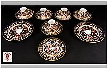 Royal Crown Derby ( 19 ) Piece Coffee Service. Date 1926. Pattern Num.2451. Comprises, 5 Trios, 1 Side plate and Saucer & 2 Sandwich Plates.