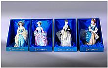 Royal Doulton Complete Set Of Gainsborough Figures comprising 1. Mary Countess Howe, HN 3007, 2. Sophie Charlotte/ Lady Sheffield HN 3008, 3. Hon Countess Howe, HN 3009, 4. Isabella Countess Of Sefton HN 3010. All figures complete with boxes &
