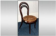 Childs Bentwood Loop Back Chair with cane seat. C1900 26 inches high.