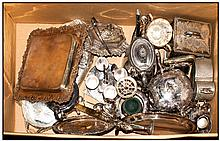Collection Of Silver Plated Ware, Comprising Tea Set, Serving Dishes, Trays/Salver, Opera Purse etc