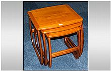 Nathan Master Craftsman Nest Of Three Teak Tables
