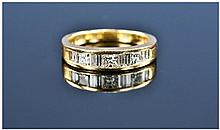 18ct Gold Half Eternity Diamond Ring, Channel Set