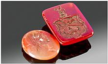 Two 19th Century Hardstone Intaglio Seals, one