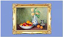 W. Shackleton. Stillife of Apples in a Bowl,