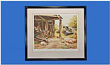 R.P. Reynolds. Large Coloured Print of Four Shire