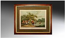 Edward Orme 1807 Print Of Stag Hunting 2, Number 6