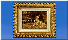 Victorian Hand Finished Mezztint, subject Regency